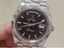 Replica Rolex DayDate 40mm 228239 EWF Best Edition Black Dial SS President Bracelet A3255