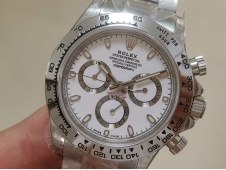 Replica Rolex Daytona 116520 VRF Best Edition White Dial on SS Bracelet A7750