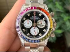 Replica Rolex Daytona 116599 RBOW Rainbow Crystal BLF Best Black Dial A4130