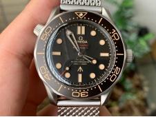 Replica OMEGA Seamster 300 No Time to Die Titanium V3 VSF 1:1 Best Mesh Bracelet A8806(Free Nato)