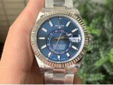 Replica Rolex Sky-Dweller 326934 Noob 1:1 Best Blue Dial on SS Bracelet A23J