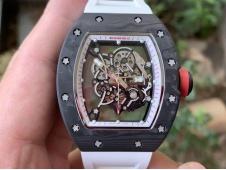Replica Richard Mille RM055 NTPT KVF Best Skeleton Dial Red Crown MIYOTA8215 V3