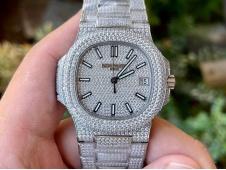 Replica Patek Philippe Nautilus 5719 Full Diamond R8F V3 Best Ice Out Bracelet A324 Clone