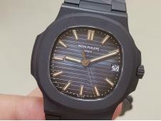 Replica Patek Philippe Nautilus 5711 PVD All Black PPF 1:1 Best Blue Dial 324CS V4