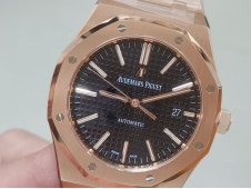 Replica Audemars Piguet AP Royal Oak 41mm 15400 Rose Gold JF 1:1 Best Black Dial A3120 V5
