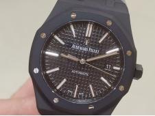 Replica Audemars Piguet AP Royal Oak 41mm 15400 Black DLC ZF 1:1 Best Black Dial A3120(Free BOX)