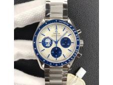 Replica Omega SpeedMaster Snoopy Apollo White Blue Dial OMF Venus75