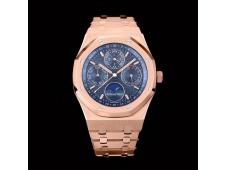 Replica Audemars Piguet AP Royal Oak 41mm Complicated 26574 Rose Gold APSF 1:1 Best Blue Dial A5134