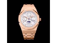 Replica Audemars Piguet AP Royal Oak 41mm Complicated 26574 Rose Gold APSF 1:1 Best White Dial A5134