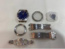Wrap 18kt Real White Gold And Custom Diamond Bezel Service