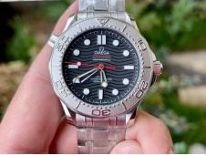 Replica OMEGA Seamaster Diver 300M Nekton VSF 1:1 Best Black Dial on SS Bracelet A8806