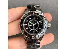 J-12 33mm XF 1:1 Best Black Korea Ceramic Black Dial on Bracelet Swiss Quartz