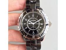 J-12 38mm KOR 1:1 Best Black Korea Ceramic Black Dial on Bracelet A2892