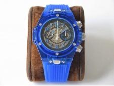 Replica HUBLOT Big Bang Unico Magic Sapphire Blue 45mm OXF Best Skeleton Dial on Blue Rubber A1242