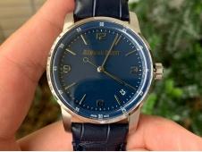 Replica Audemars Piguet AP CODE 11.59 SS 15210 OXF Best Blue Dial on Blue Leather A4302