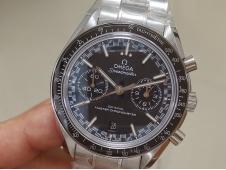Replica OMEGA Speedmaster Moonwatch OMF 1:1 Best Black Dial SS Bracelet A9900