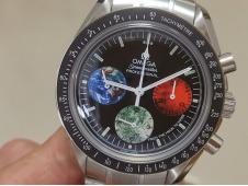 Replica OMEGA Speedmaster MoonWatch Sapphire Crystal Black Dial Manual Winding Chrono Movement