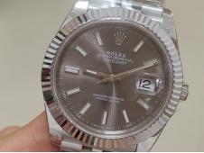 Replica Rolex DateJust 41mm 126334 BP Factory Best Gray Dial Jubilee Bracelet A2813