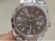 Replica Rolex DateJust 41mm 126334 BP Factory Best Gray Dial Jubilee Bracelet A3235