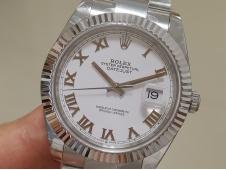 Replica Rolex DateJust 41mm 126334 BP Factory Best White Roman Dial Oyster Bracelet A2824