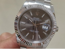 Replica Rolex DateJust 41mm 126334 BP Factory Best Gray Dial Oyster Bracelet A2813
