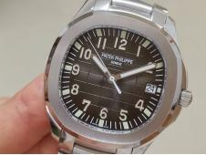Replica Patek Philippe Aquanaut 5167 SS 3KF 3K Factory 1:1 Best Edition Gray Dial on SS Bracelet A324 Super Clone