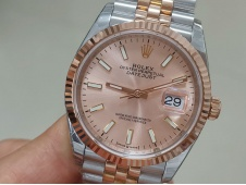 Replica Rolex DateJust 36mm SS/Rose Gold 126233 EWF 1:1 Best Pink Dial A3235