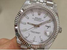 Replica Rolex DateJust 41mm 126334 EWF 1:1 Best White Dial A3235