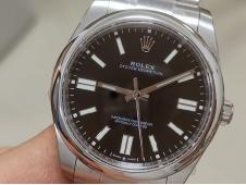 Replica Rolex Oyster Perpetual 41mm 124300 EWF 1:1 Best Black Dial A3230