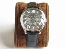 Replica Cartier Drive de Cartier GSF 1:1 Best Gray Dial on Black Leather A23J
