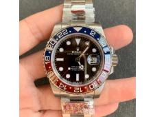 Replica Rolex GMT II 126710 BLRO PEPSI 904L Clean Factory 1:1 Best Oyster Bracelet SA3186 CHS