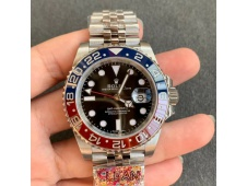 Replica Rolex GMT II 126710 BLRO PEPSI 904L SS Clean Factory 1:1 Best on Julibee SA3186 CHS