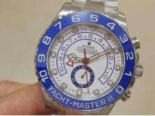 Replica Rolex YachtMaster II 116680 SS Blue Ceramic VRF 1:1 Best on SS Bracelet A7750