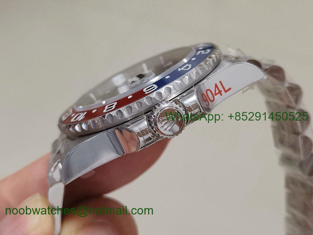 Replica Rolex GMT II 126710 BLRO 904L SS GMF 1:1 Best Julibee Bracelet SA3186 CHS