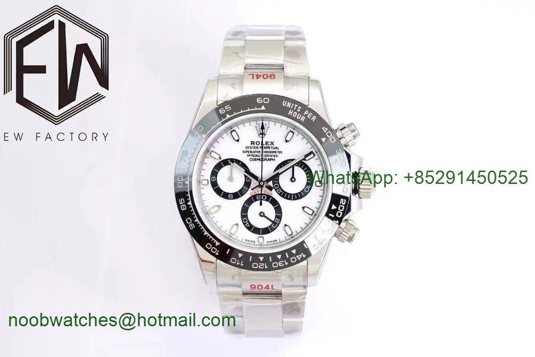 Replica Rolex Daytona 116500 White Dial PANDA EWF A7750