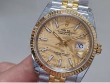 Replica Rolex Datejust 36mm Gold Steel Motif Dial 2021 EWF