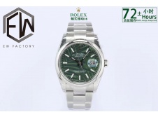 Replica Rolex Datejust 36mm Green Motif Dial 2021 EWF on Oyster Bracelet