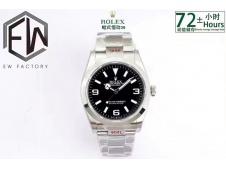Replica Rolex Explorer 1 124270 36mm 904L Black Dial EWF A3230